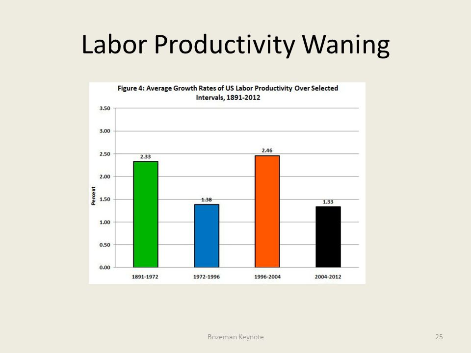 Labor Productivity Waning Bozeman Keynote25