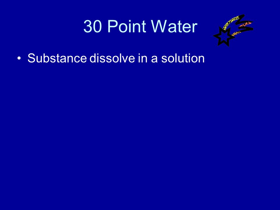 20 Point Water Answer What is below 7?
