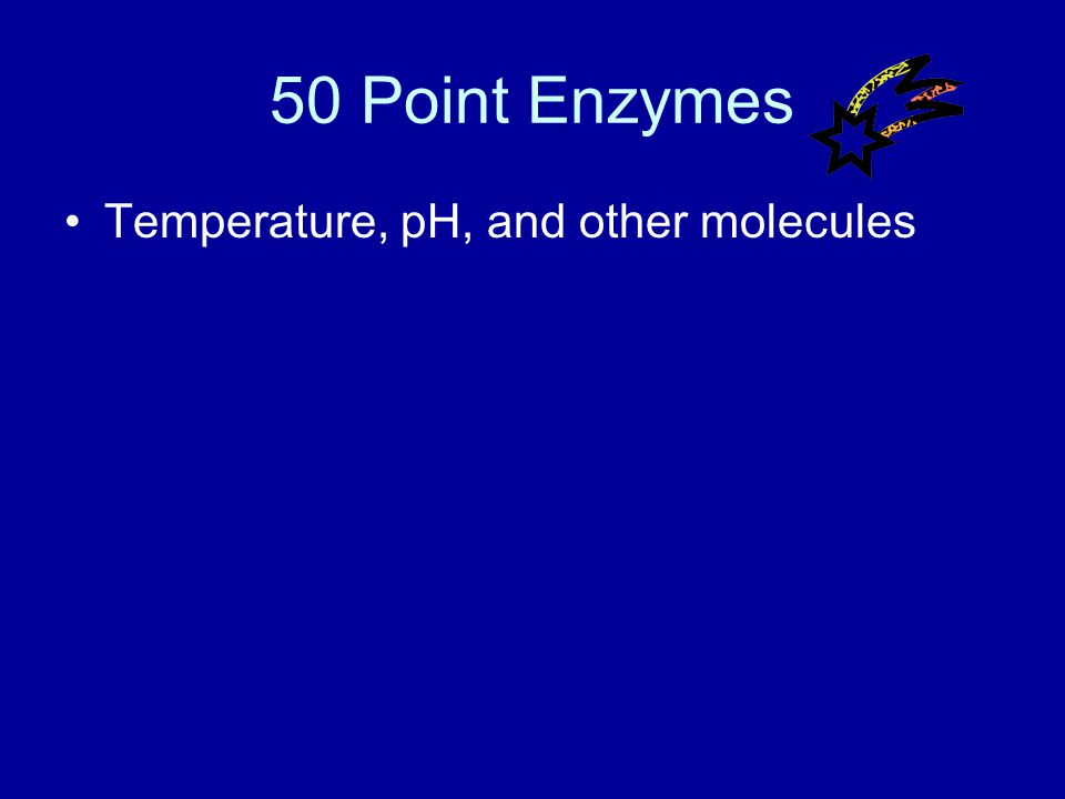 40 Point Enzymes Answer What is lower them?