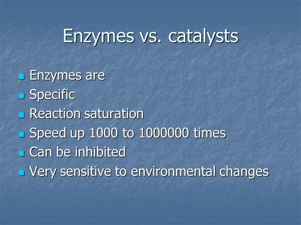 Enzymes vs.