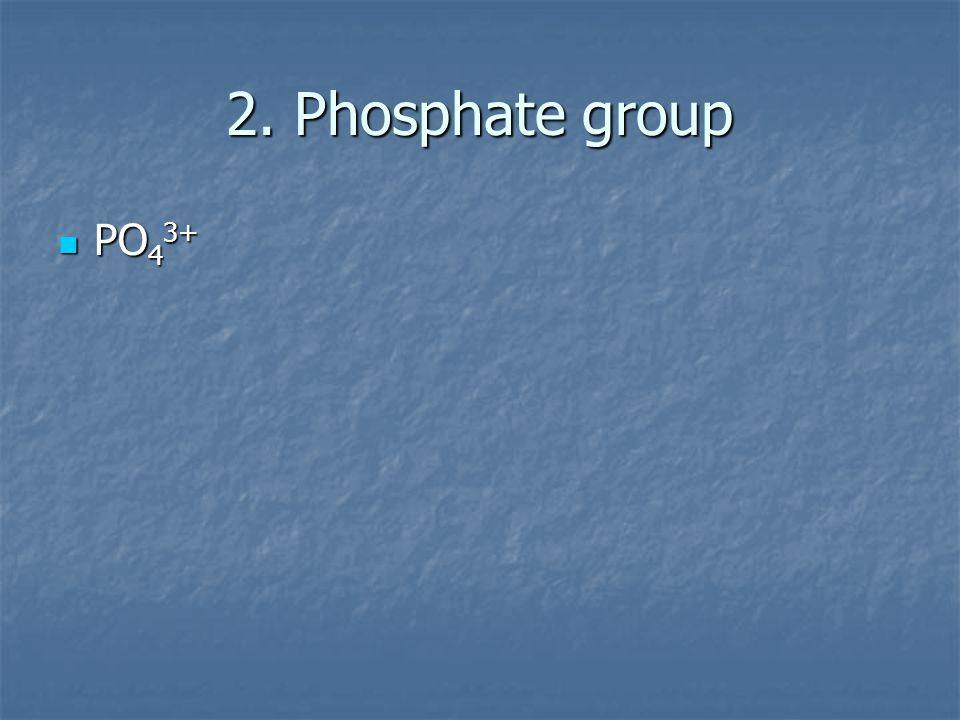 2. Phosphate group PO 4 3+ PO 4 3+