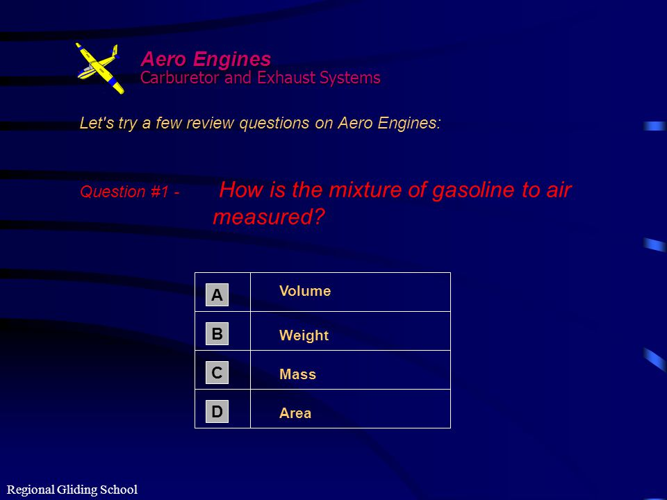 Regional Gliding School NOTE: You must use the buttons in the Confirmation Stage