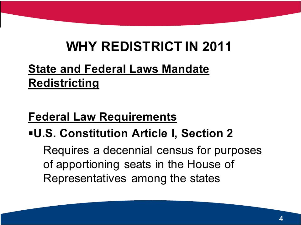 5 State Law Requirements  Virginia Constitution, Article II, Section 6 General Assembly required to establish electoral districts for  U.S.