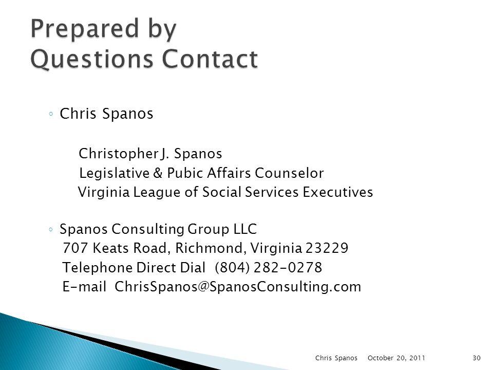 ◦ Chris Spanos Christopher J.