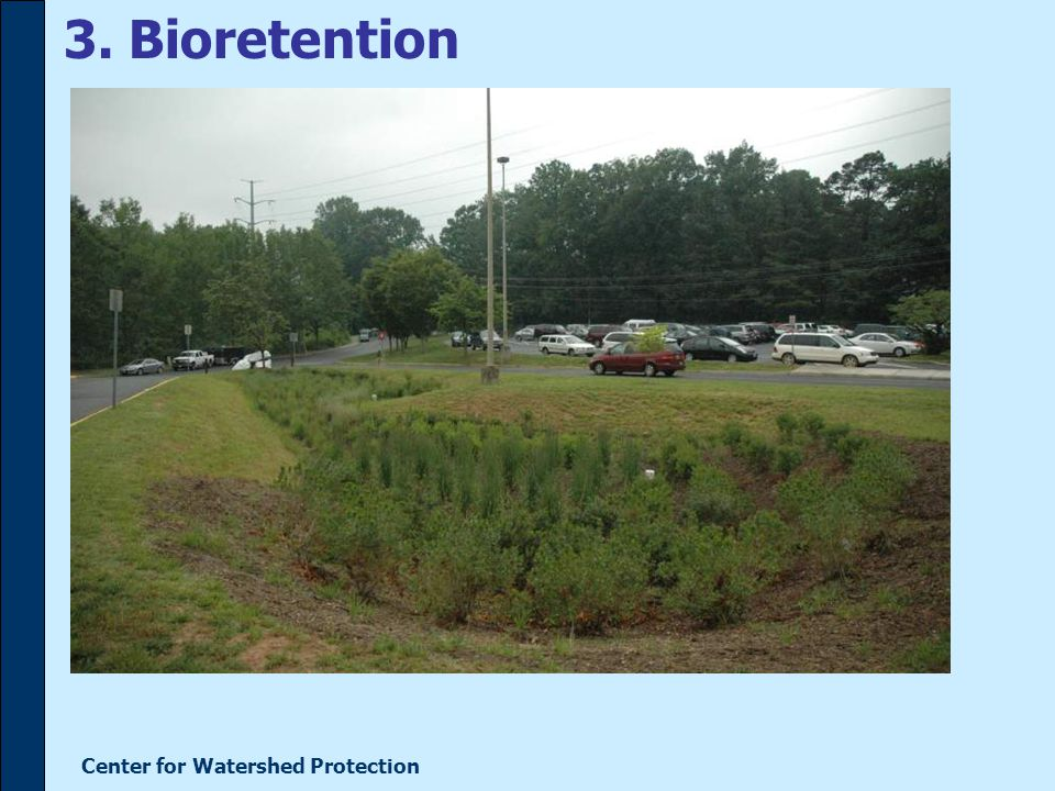 Center for Watershed Protection 3. Bioretention