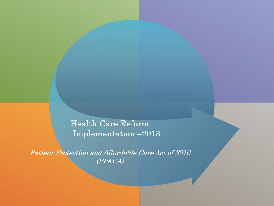 All Rights ReservedDigital Insurance Health Care Reform Implementation –2013 Patient Protection and Affordable Care Act of 2010 (PPACA)