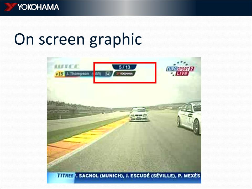 On screen graphic