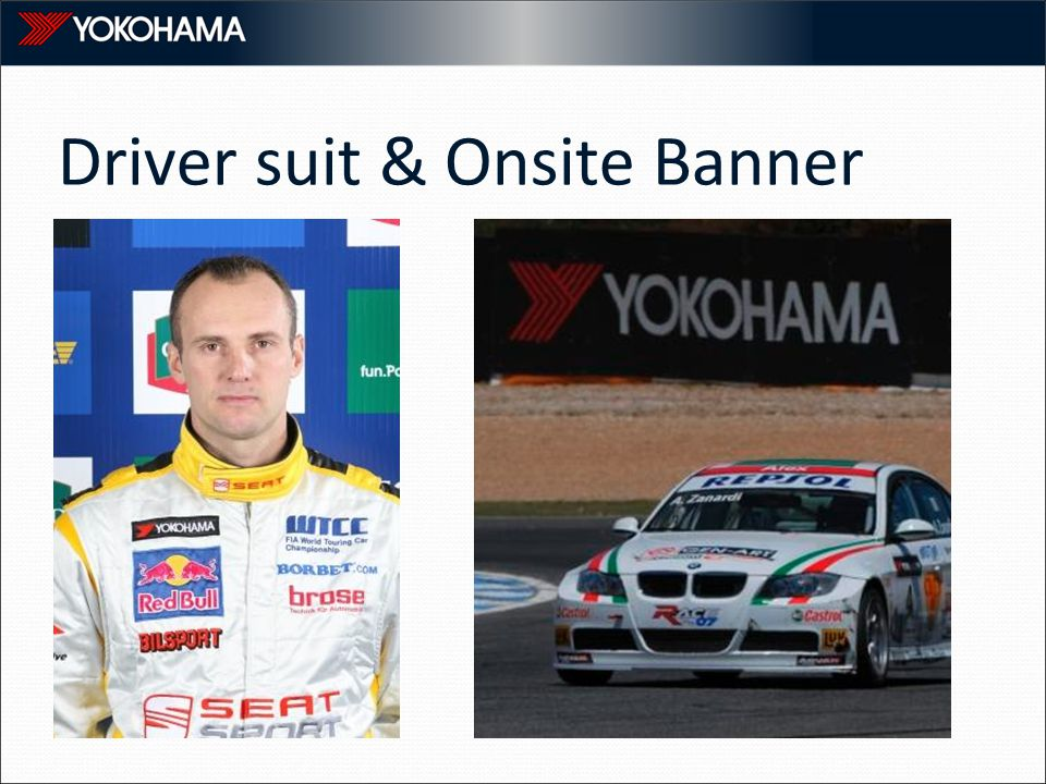Driver suit & Onsite Banner