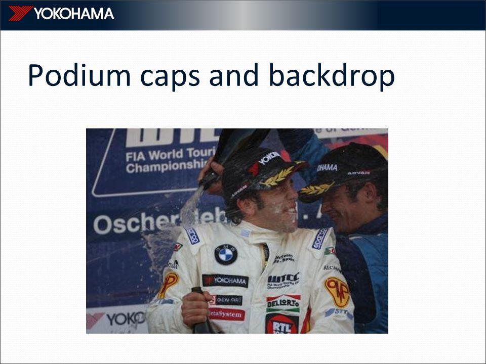 Podium caps and backdrop