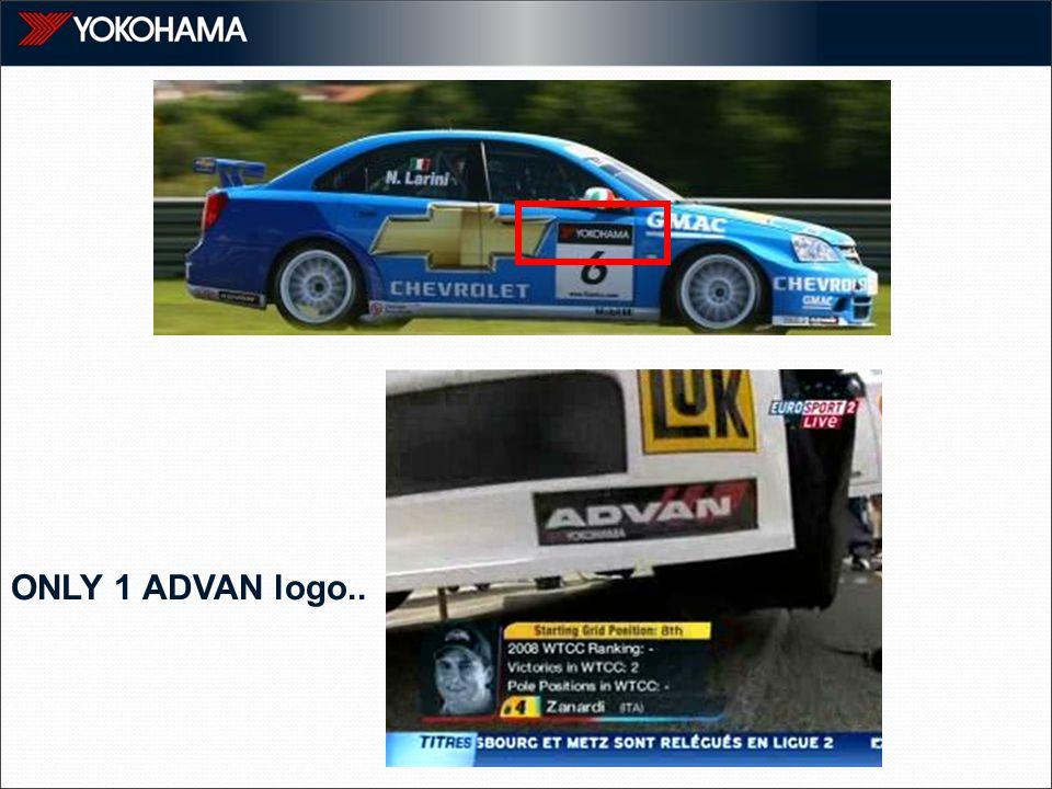 ONLY 1 ADVAN logo..