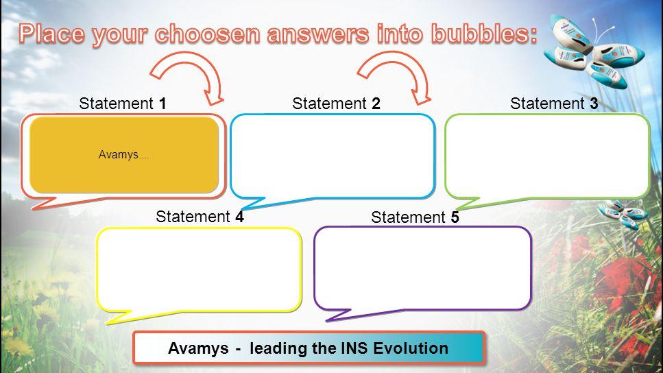 Avamys - leading the INS Evolution Statement 1Statement 2Statement 3 Statement 4 Statement 5 Avamys....