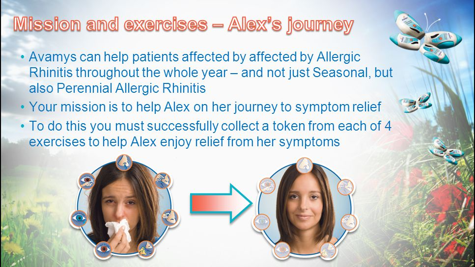 Avamys can help patients affected by affected by Allergic Rhinitis throughout the whole year – and not just Seasonal, but also Perennial Allergic Rhin
