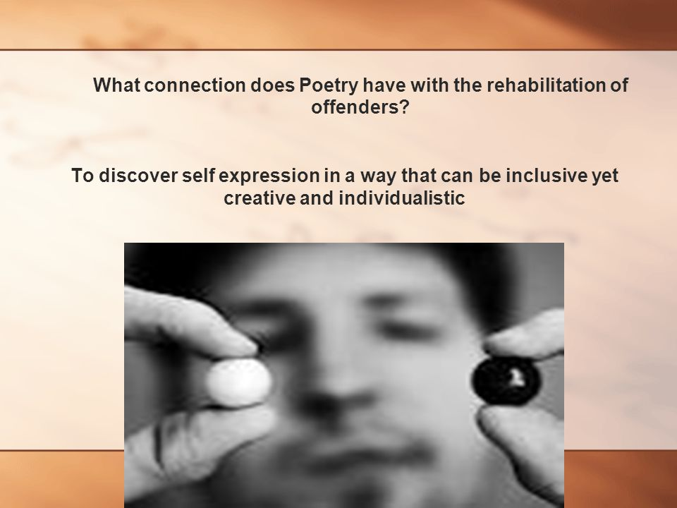 What connection does Poetry have with the rehabilitation of offenders.
