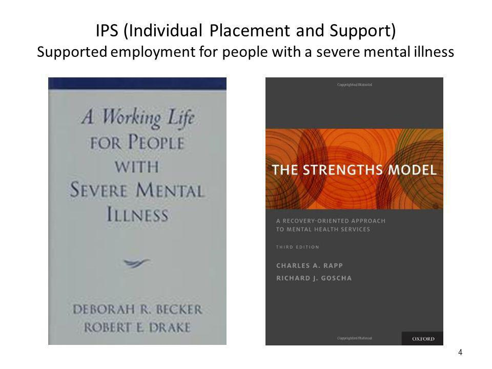 4 IPS (Individual Placement and Support) Supported employment for people with a severe mental illness