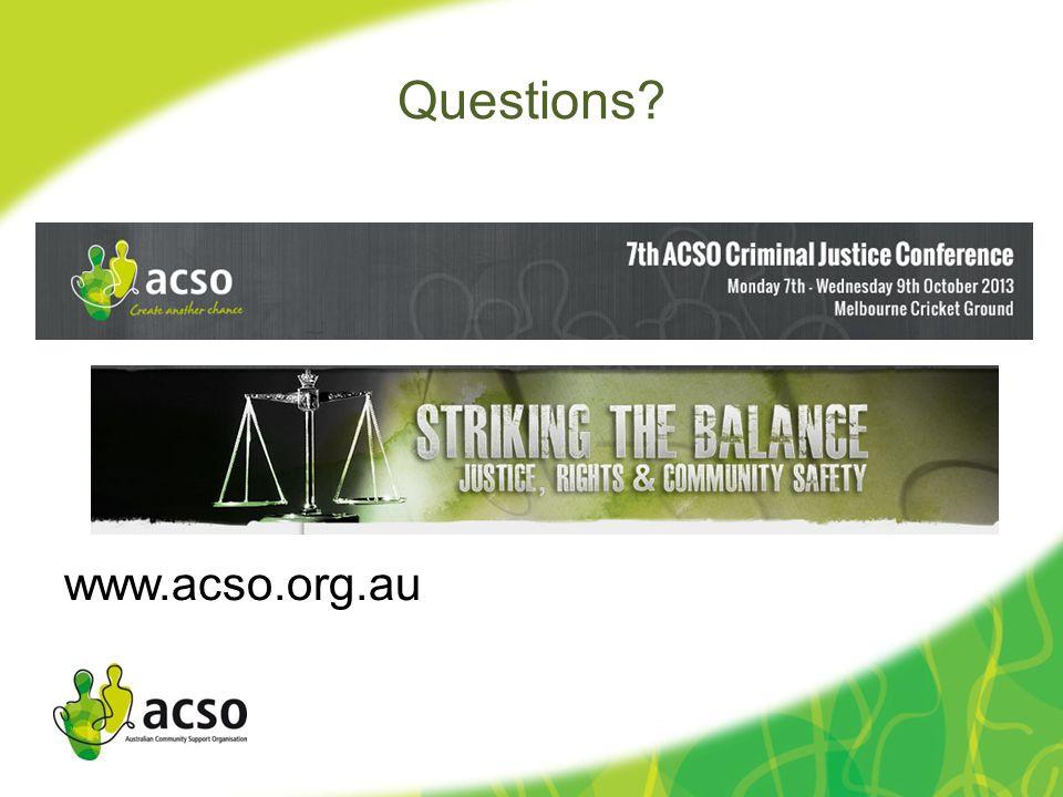Questions www.acso.org.au