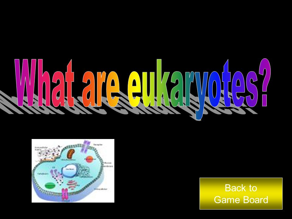 Multi-cellular organisms are known as…. Answer Back to Game Board
