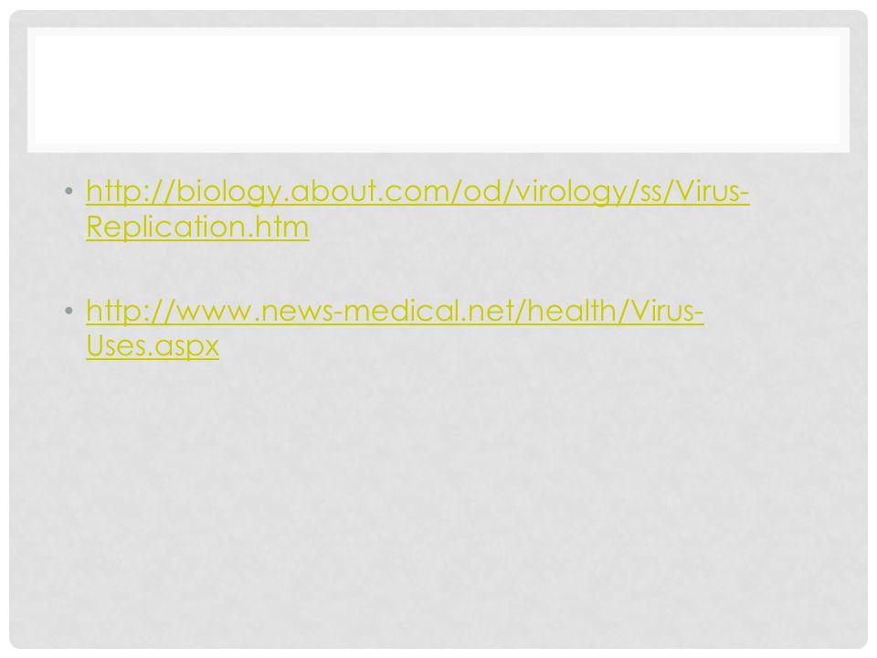 http://biology.about.com/od/virology/ss/Virus- Replication.htm http://biology.about.com/od/virology/ss/Virus- Replication.htm http://www.news-medical.