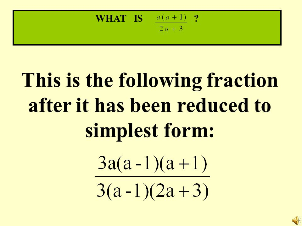 The category is… Simplifying Fractions Write your wager now on the back of your paper.