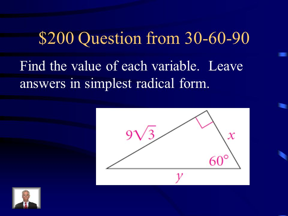 $100 Answer from 30-60-90