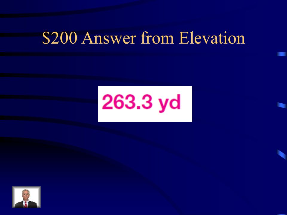 $200 Question from Elevation Find the value of x. Round lengths to the nearest tenth.