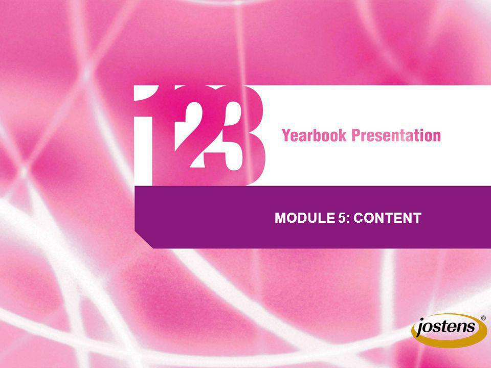 MODULE 5: CONTENT