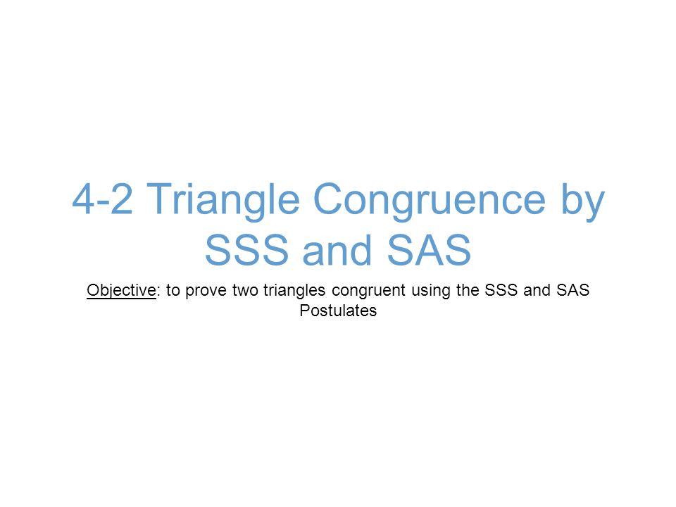 Ex 3B: Are the Triangles Congruent?