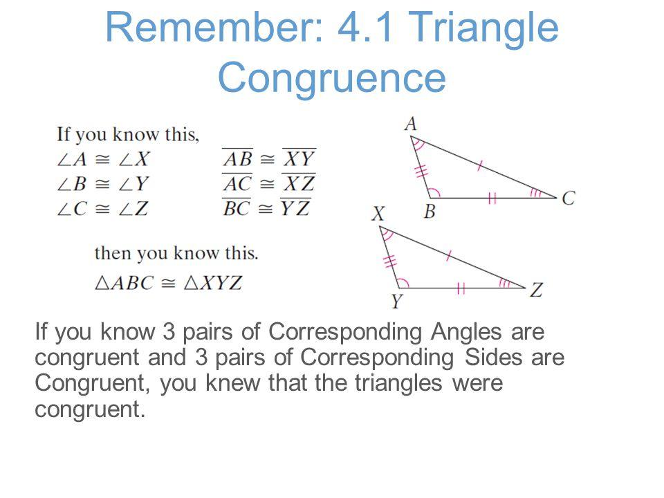Apply: Are these Triangles Congruent.