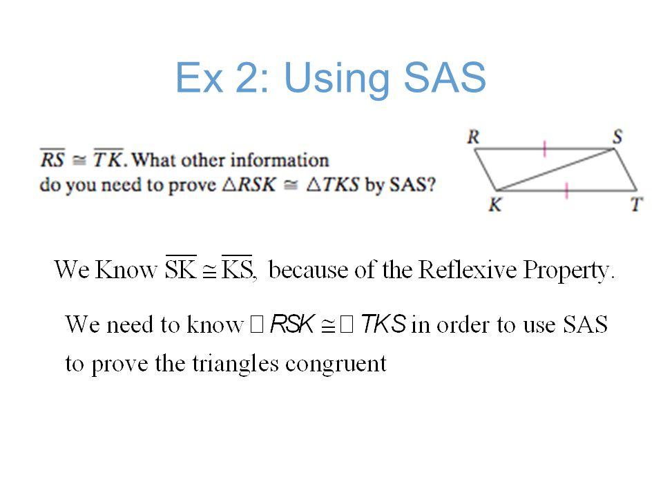 Ex 2B: Using SAS