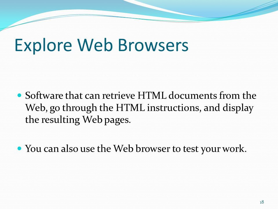 Getting Familiar with Web Pages 17
