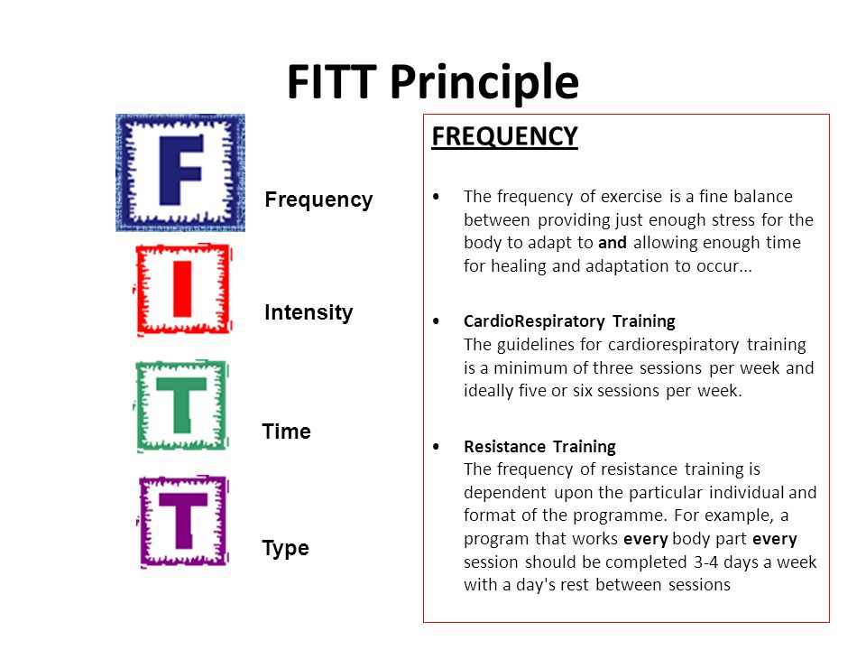 FITT Principle INTENSITY It defines the amount of effort that should be invested in a training program or any one session.