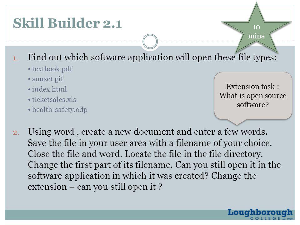 Skill Builder 2.1 1.
