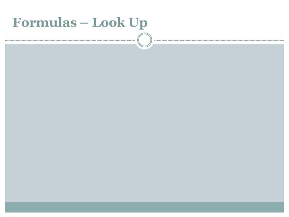 Formulas – Look Up