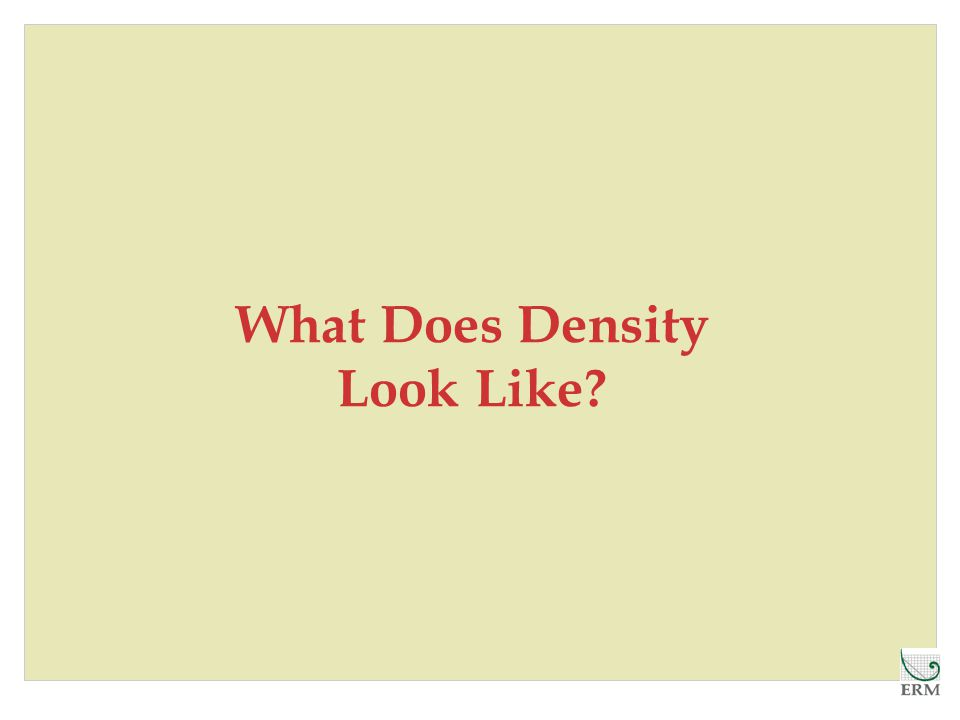 What Does Density Look Like