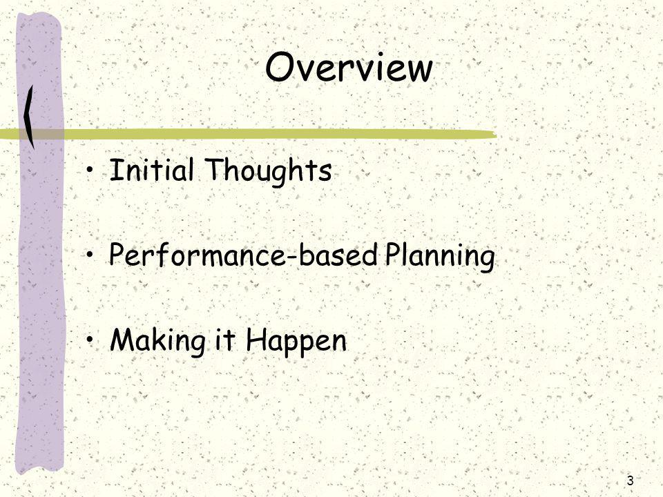 14 Planning Lessons Learned Some goals may take a number of years to achieve, so what constitutes early progress is not clear, e.g., increased accessibility for girls and women May focus on the activity (the how) rather than the end goal (the what), e.g., consult with school associations, develop a strategy