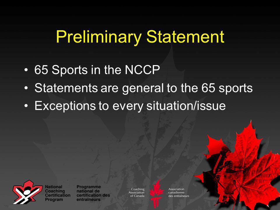 Coaches to be certified by Streams / Contexts, not by Levels Coaching Development SYSTEM