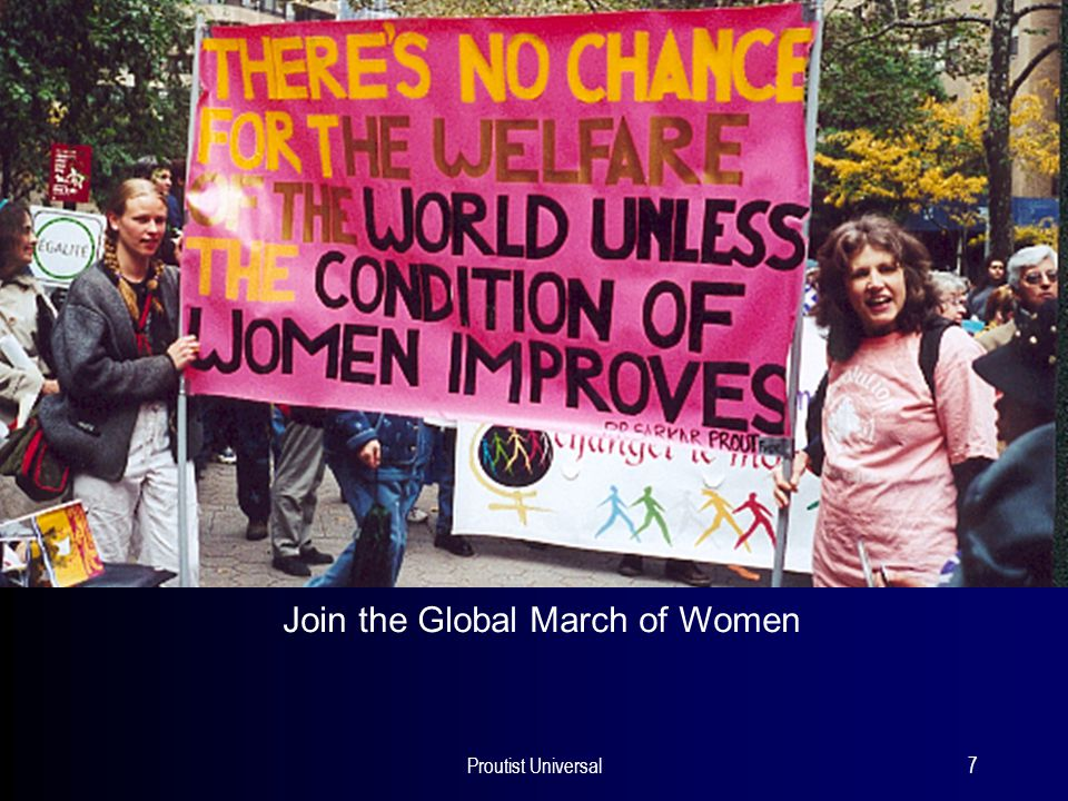 Proutist Universal7 Join the Global March of Women