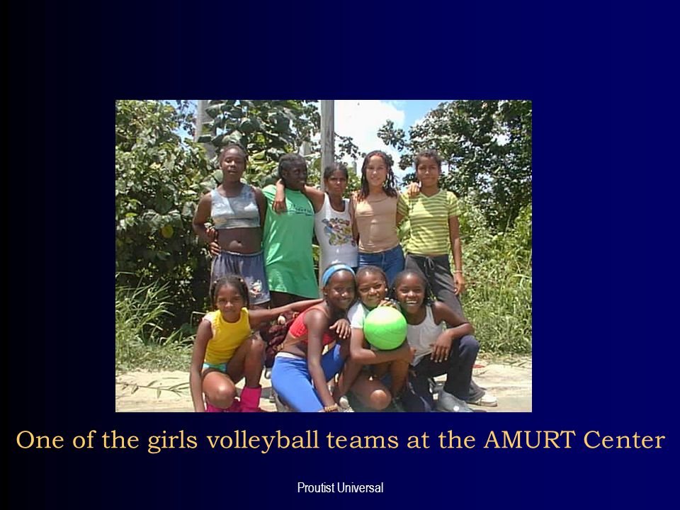 Proutist Universal One of the girls volleyball teams at the AMURT Center