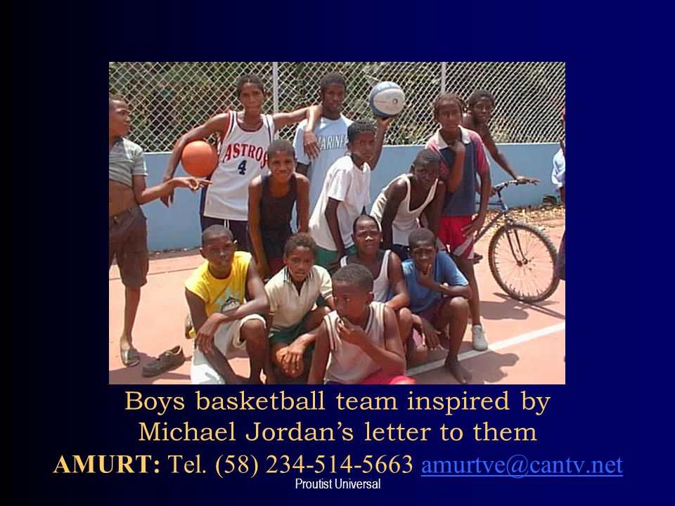 Proutist Universal Boys basketball team inspired by Michael Jordan's letter to them AMURT: Tel.