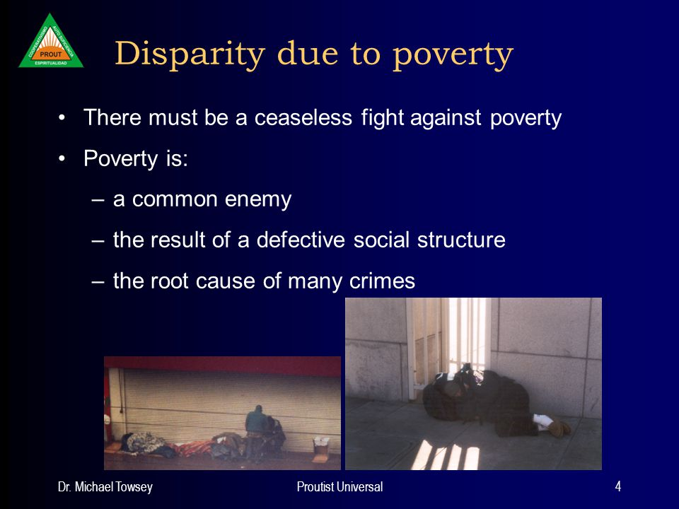 Dr.Michael TowseyProutist Universal15 Campaign against poverty Three steps: 1.