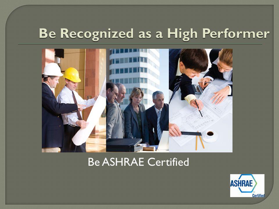 Be ASHRAE Certified