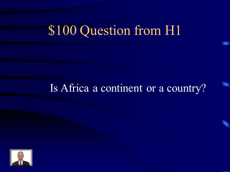 Jeopardy Africa Colonialism Nigeria Colonialism in Africa Motives Q $100 Q $200 Q $300 Q $400 Q $500 Q $100 Q $200 Q $300 Q $400 Q $500 Final Jeopardy