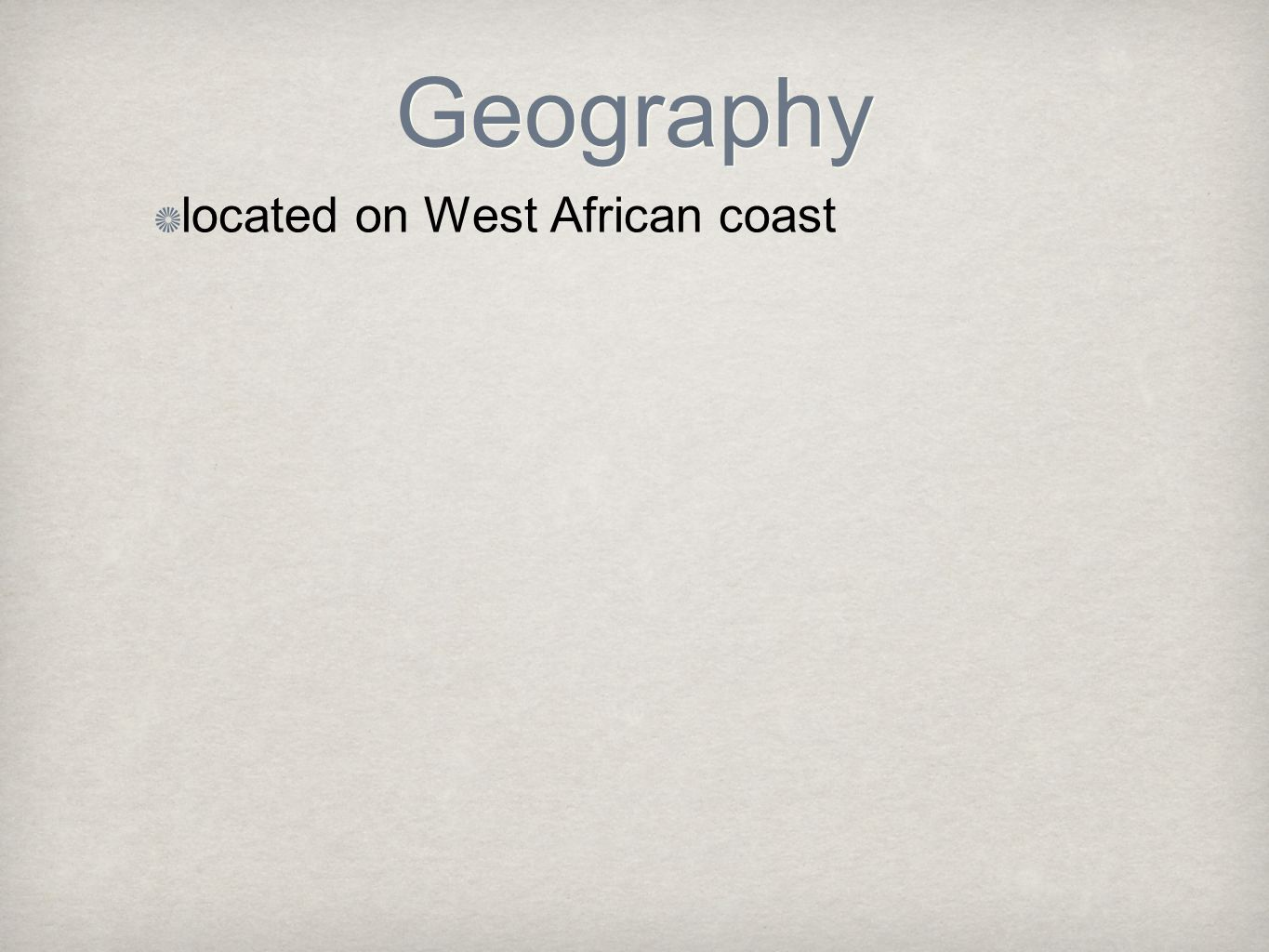 located on West African coast