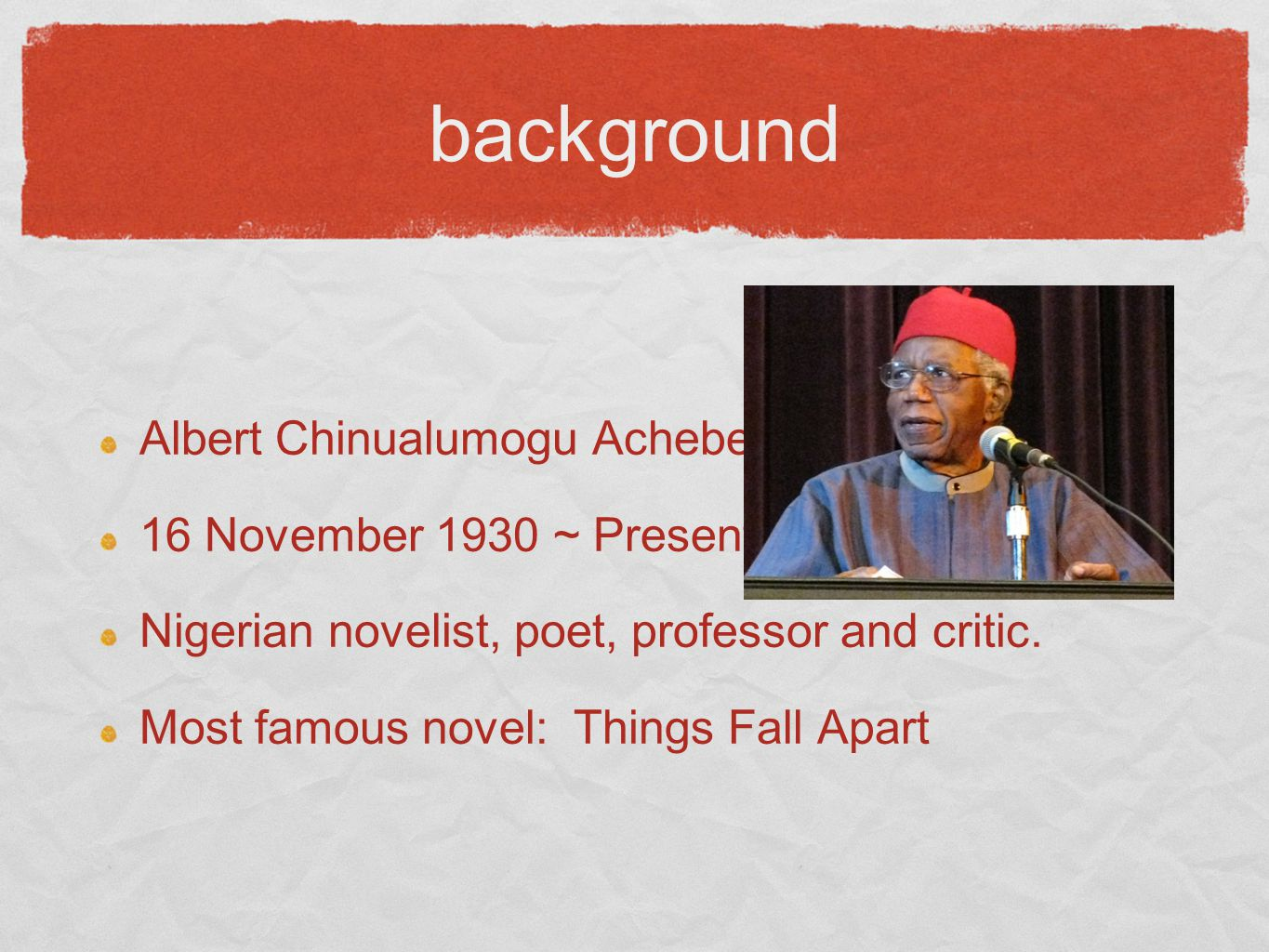 discussion Why do you think Achebe's books receieved so much attention rather than other books?