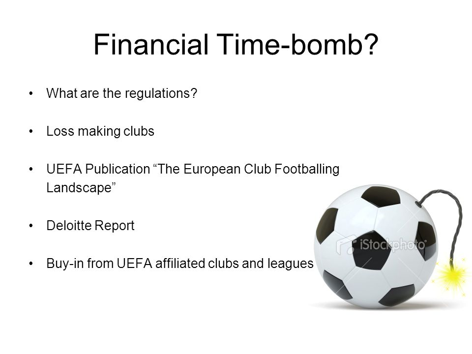 Financial Time-bomb. What are the regulations.