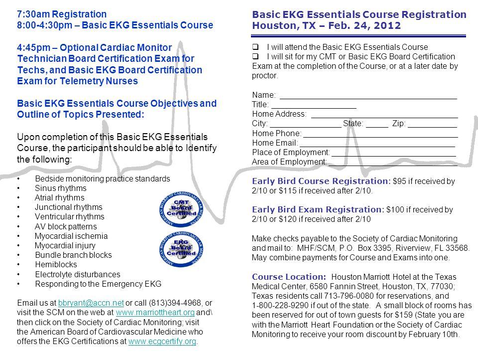 Basic EKG Essentials Course Registration Houston, TX – Feb.