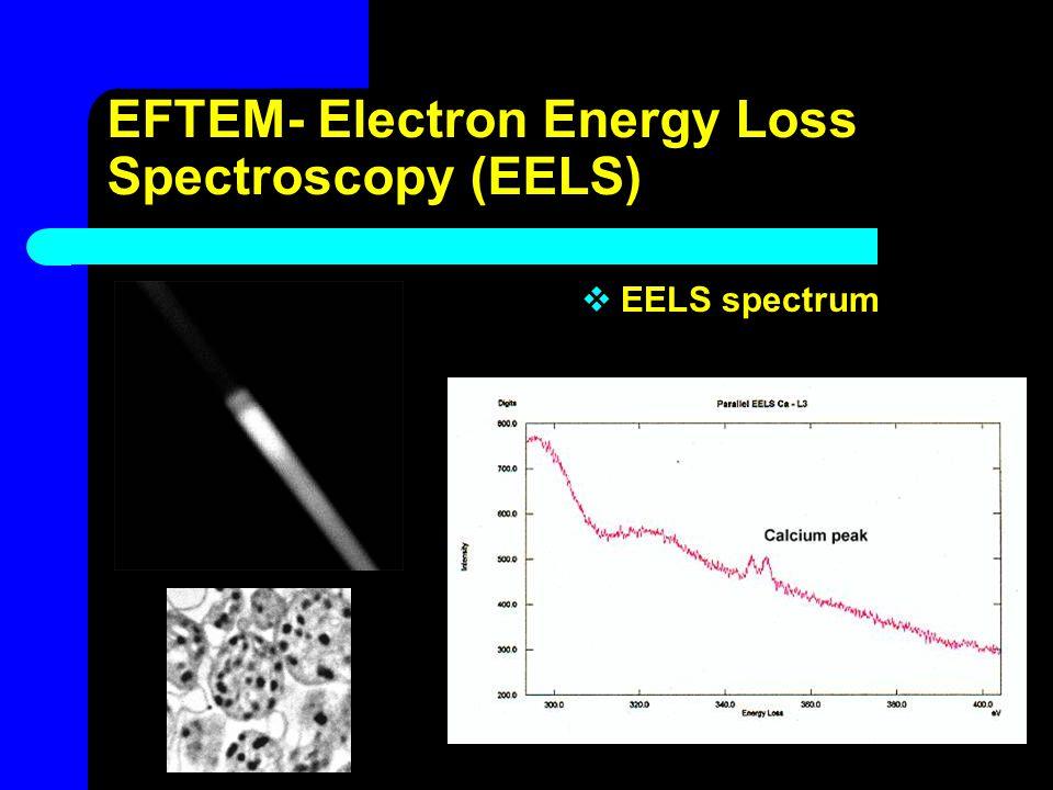EFTEM- Electron Energy Loss Spectroscopy (EELS)  EELS spectrum