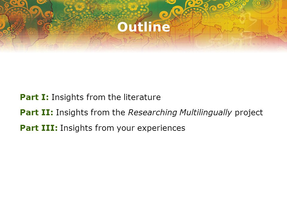 Part I Insights from the literature