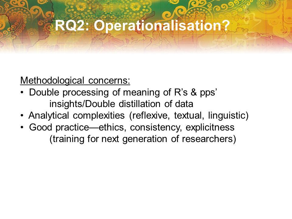 RQ2: Operationalisation.