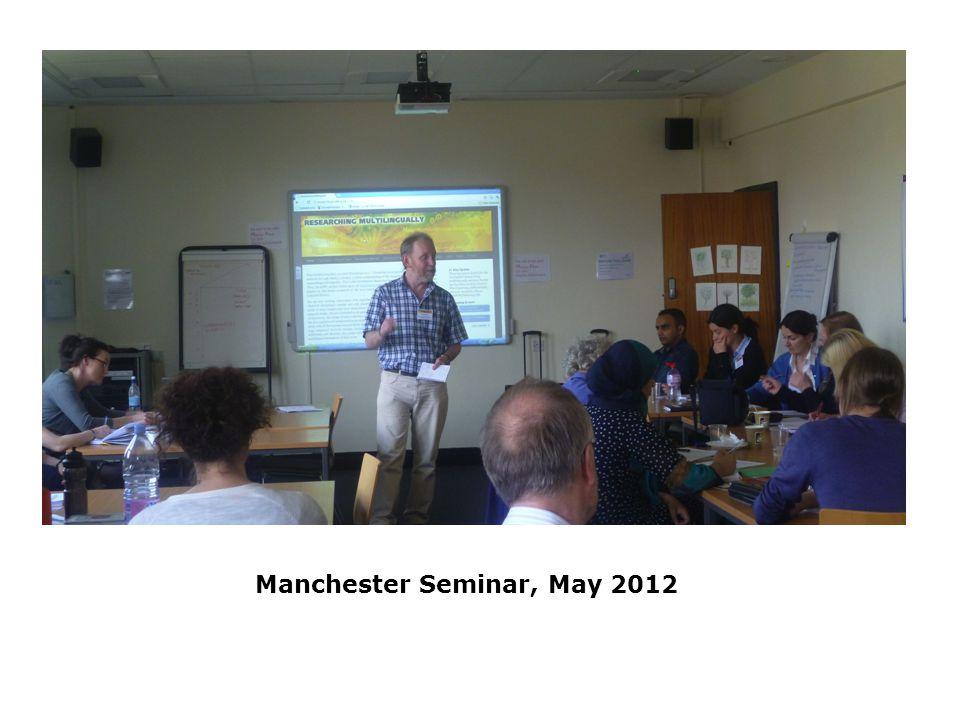 Manchester Seminar, May 2012