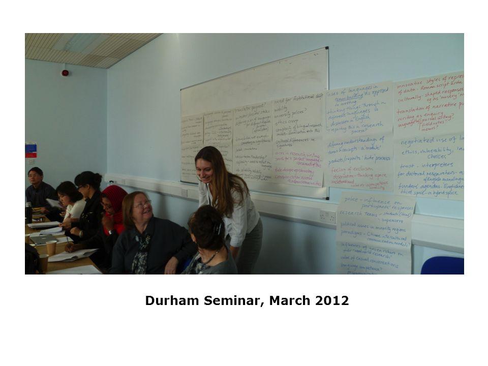 Durham Seminar, March 2012